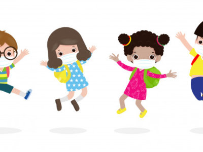 back-school-new-normal-lifestyle-concept-happy-kids-jumping-wearing-face-mask-protect-corona-virus-covid-19-group-children-friends-go-school-isolated-white-background-vector_83111-860